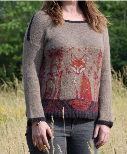 Foxy sweater from front