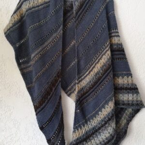 Rhythm of rain shawl