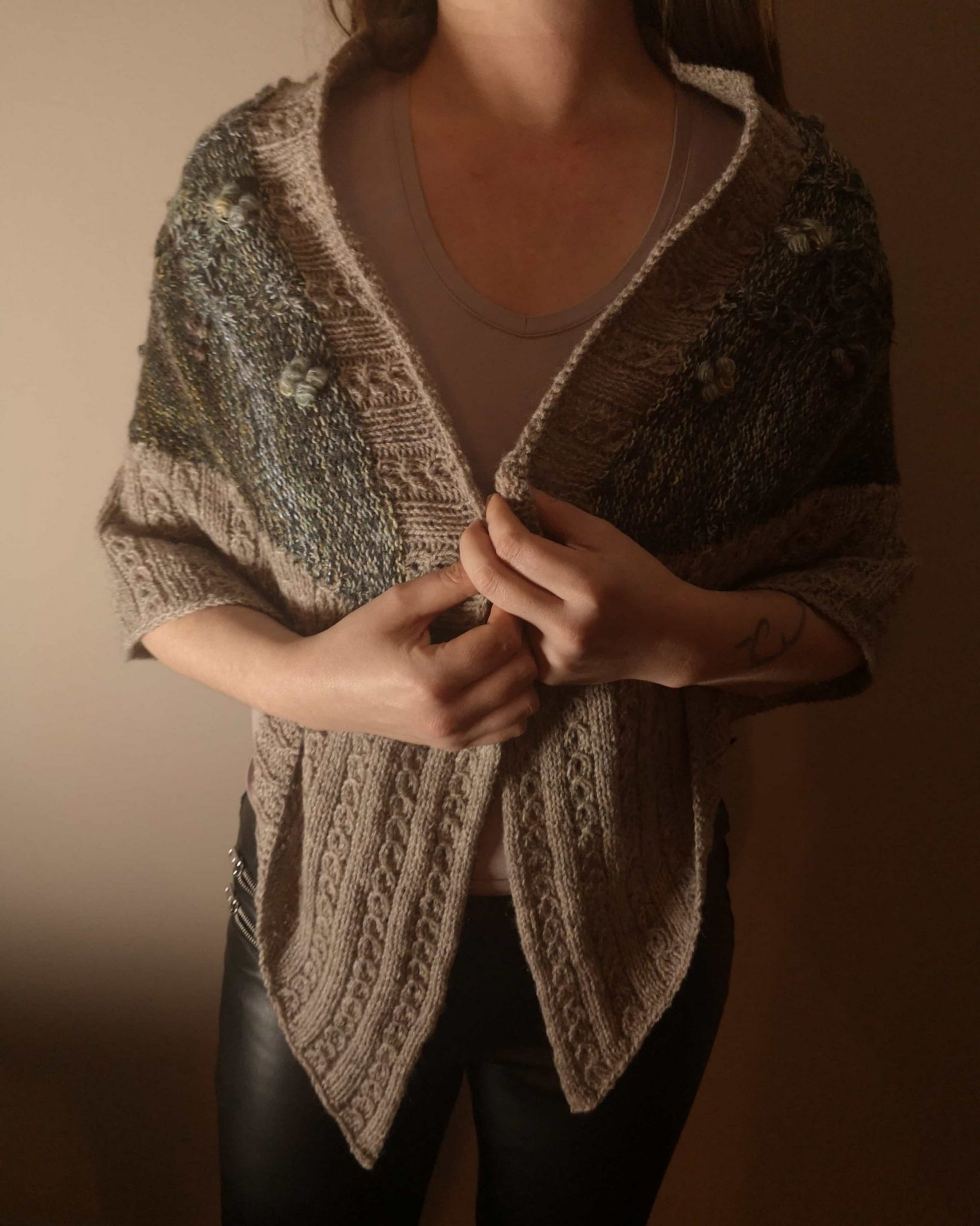 Wings of meditation shawl two colors