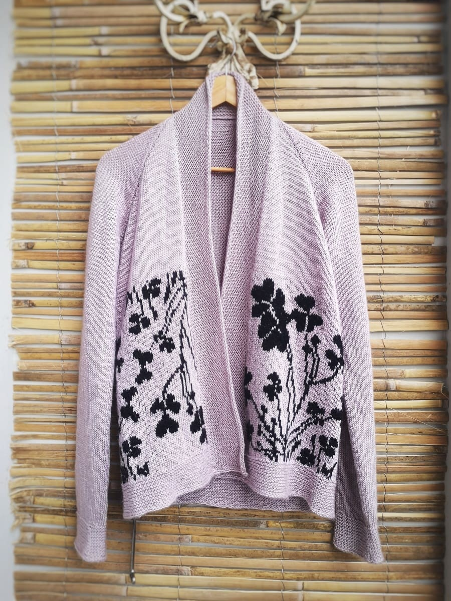 Clover cardigan front